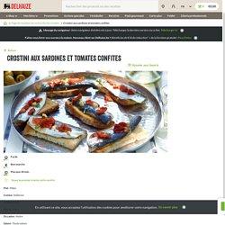 Crostini aux sardines et tomates confites