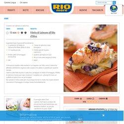 Crostoni con salmone e radicchio
