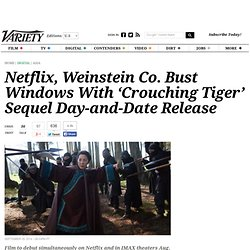 'Crouching Tiger, Hidden Dragon' Sequel: Netflix to Release With TWC