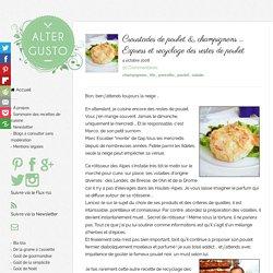 Croustades de poulet, champignons et pancetta