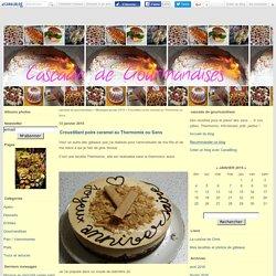 Croustillant poire caramel au Thermomix ou Sans