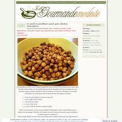 Snack croustillant santé : pois chiches rôtis épicés