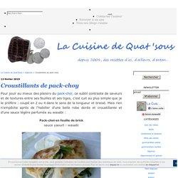 Croustillants de pak-choy sauce wasabi