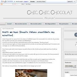 Brutti ma buoni {biscuits italiens croustillants aux noisettes}