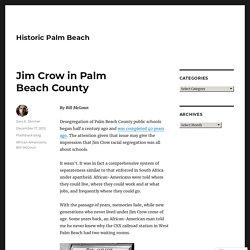 Jim Crow in Palm Beach County – Historic Palm Beach