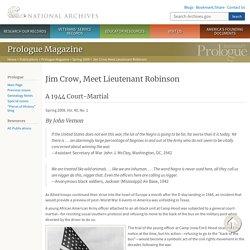 Jim Crow, Meet Lieutenant Robinson