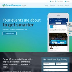 CrowdCompass — Mobile Apps for Conferences