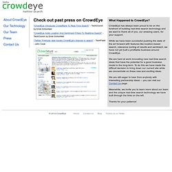 CrowdEye Twitter Search