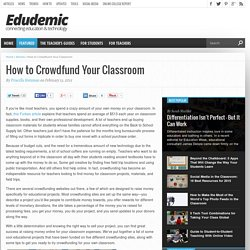 How to Crowdfund Your Classroom
