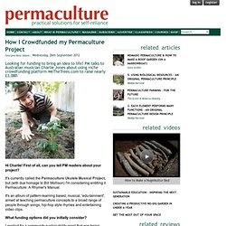 How I Crowdfunded my Permaculture Project