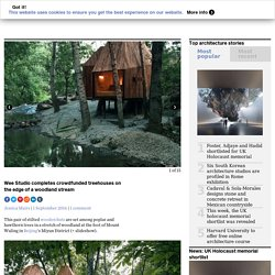 Wee Studio completes crowdfunded treehouses next to a stream in Beijing