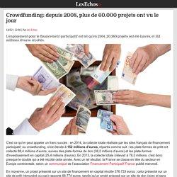 Crowdfunding: depuis 2008, plus de 60.000 projets ont vu le jour