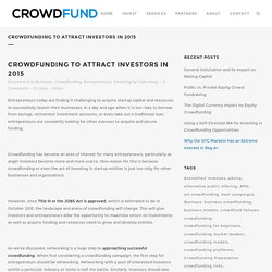 Crowdfunding to Attract Investors in 2015