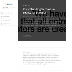 Crowdfunding becomes a reality for startups - GrowVC (press release)