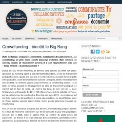 Crowdfunding : bientôt le Big Bang