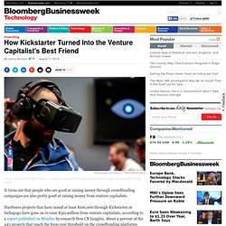 Kickstarter Successes Pivot From Crowdfunding to Venture Capital