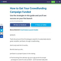 How to Get Your Crowdfunding Campaign Funded - Sumo