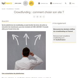 Crowdfunding : comment choisir son site ?