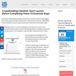 Crowdfunding Checklist: Don't Launch Before Completing These 10 Essential Steps