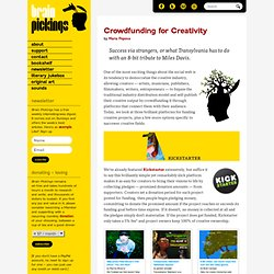Crowdfunding for Creativity