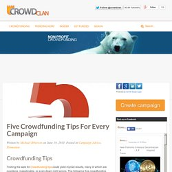 Five Crowdfunding Tips for Every Campaign