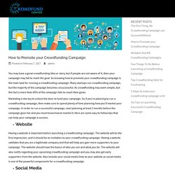 How to Promote your Crowdfunding Campaign - Crowdfund Center