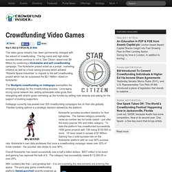 Crowdfunding Video Games