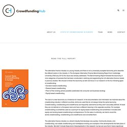 Current State of Crowdfunding in Europe « CrowdfundingHub