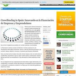 Crowdfunding in Spain: Innovando en la Financiación de Empresas y Emprendedores