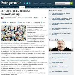 3 Traits of Successful Crowdfunding Projects