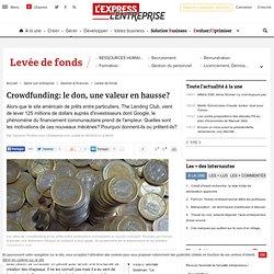 Crowdfunding: le don, une valeur en hausse?