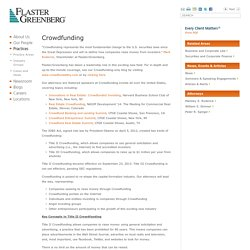 Crowdfunding: Law Firm, Attorneys