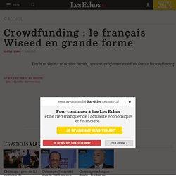 Crowdfunding: le français Wiseed en grande forme