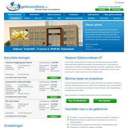 Crowdfunding - Geldvoorelkaar.nl