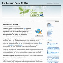 Our Common Future 2.0 Blog