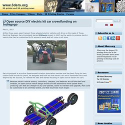 Open source DIY electric kit car crowdfunding on Indiegogo