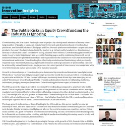 The Subtle Risks in Equity Crowdfunding the Industry Is Ignoring