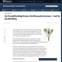 As Crowdfunding Grows, the Rewards Increase