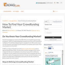 How to Find Your Crowdfunding Market