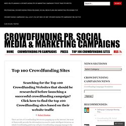 Crowdfunding PR, Social Media & Marketing Campaigns