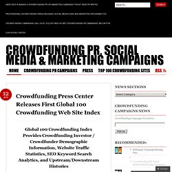 Crowdfunding Press Center Releases First Global 100 Crowdfunding Web Site Index