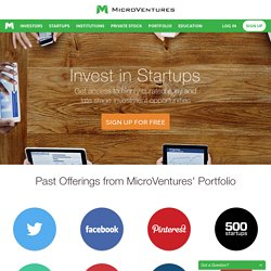 Crowdfunding - Angel Investing Private Equity and Crowd funding by Microventures