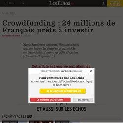 Crowdfunding : 24 millions de Français prêts à investir