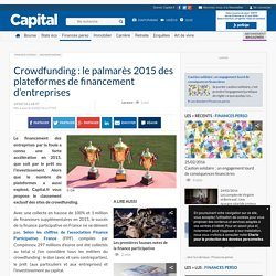 Crowdfunding : le palmarès 2015 des plateformes de financement d'entreprises