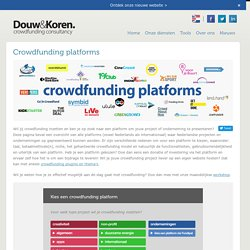 Crowd Funding in the Netherlands | Douw & Koren