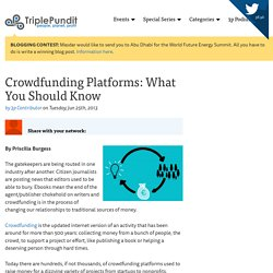 Crowdfunding Platforms: What You Should Know