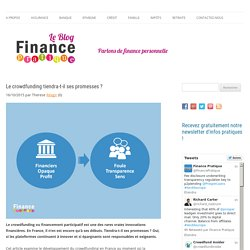 Le crowdfunding tiendra-t-il ses promesses ? - Finance Pratique - Le blog