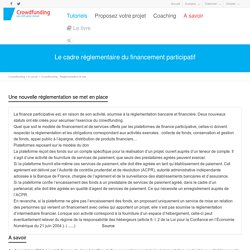 Crowdfunding : Réglementation et lois - Crowdfunding