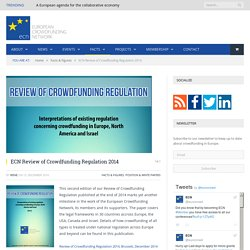 ECN Review of Crowdfunding Regulation 2014 - European Crowdfunding Network