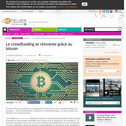 Le crowdfunding se réinvente grâce au bitcoin